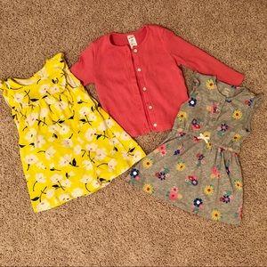 Carter's summer dress and cardigan bundle 24 M